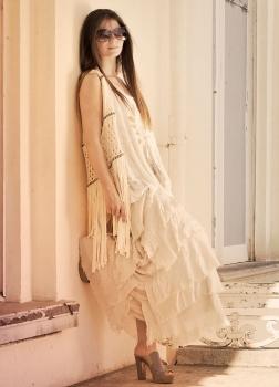 White Ruffled Dress