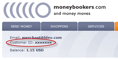 Moneybookers Login Page
