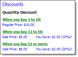 discount ad