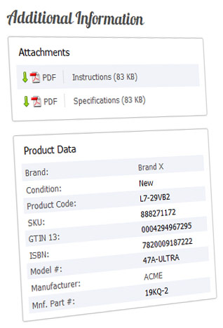Additional Product Data