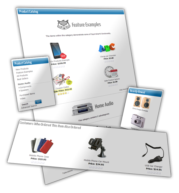 product and category features