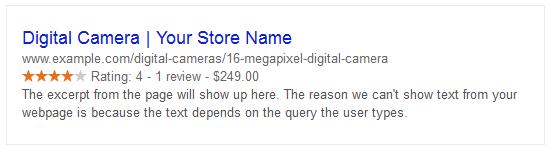 Example of Google's Structured Data Interpretation
