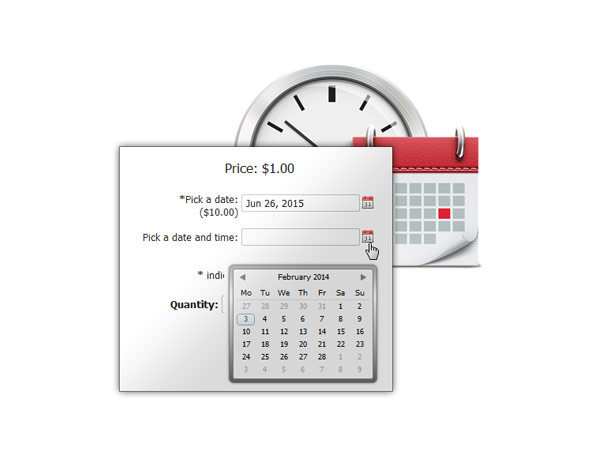 Date and time options