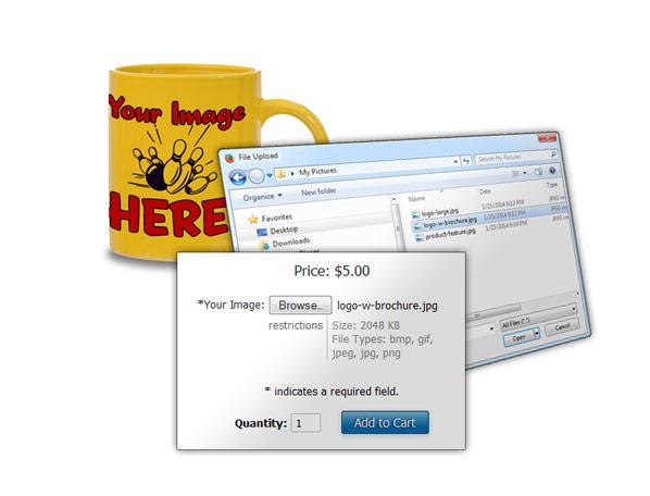 File upload options