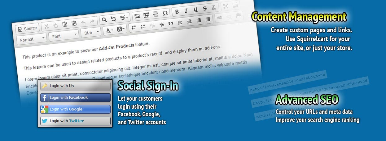 Social Sign-In, Content Management (CMS), and SEO
